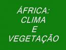 África - Clima e Vegetação