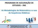 Programa de Aceleração de Estudos - Matemática