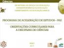 Programa de Aceleração de Estudos - Ciências