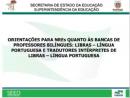 Bancas de proficiência para Professores Bilíngues e TILS